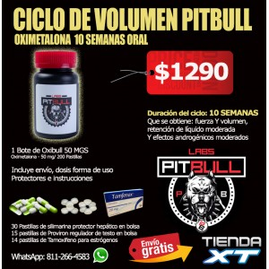 CICLO DE Volumen PITBULL OXY Oral